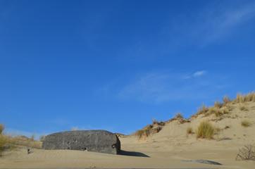 bunker in dune landscape