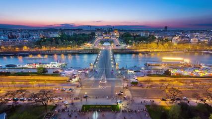 View of river Seine, Trocadero and La Defense from the Eiffel