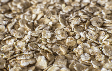 Oat flakes background - macro photo