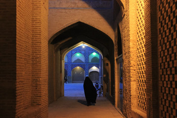 iranian women on the old esfahan street