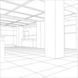 Interior office outlined. Tracing illustration of 3d - 80853996