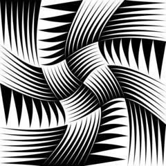 Pointed, edgy shapes pattern with swirling effect