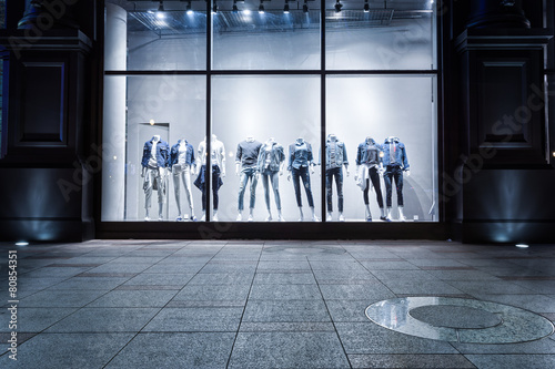 fashion shop display window and clothes. - 80854351
