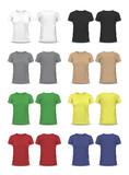 Vector T-shirt, Design template, , raglan sleeve, women and men - 80855706