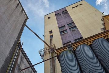 Big factory concrete walls