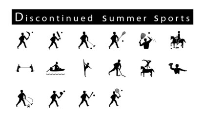 Set of 16 Discontinued Summer Sport Icons