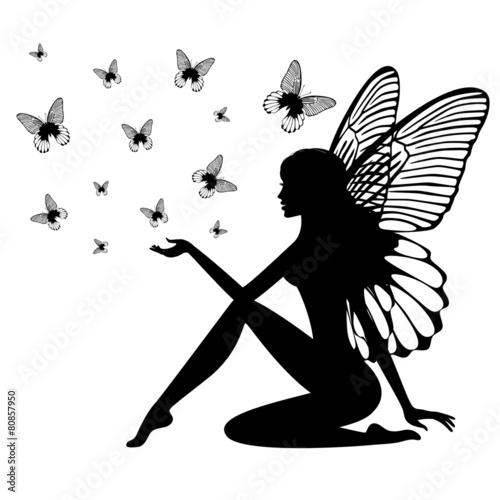 Zdjęcia na płótnie, fototapety, obrazy : Silhouette of fairy