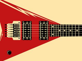 Electric guitar, vector