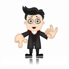 Ben Boy Friendly Vampire Cartoon Character Illustration