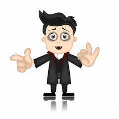 Ben Boy Friendly Vampire Cartoon Character Illustration