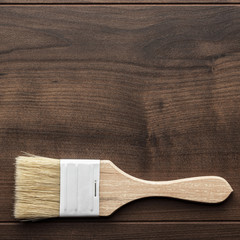 paint brush on the table