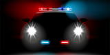 Fototapety realistic police car front view