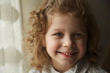 Beautiful happy little girl