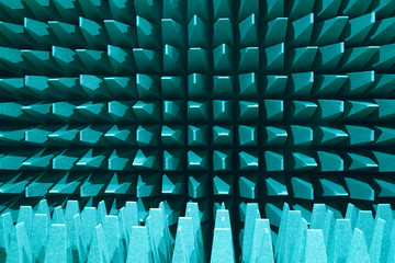 Anechoic electromagnetic or sound chamber