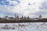 Спасо-Прилуцкий монастырь ранней весной. Вологда, Россия