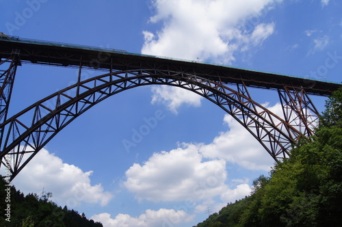 Leinwanddruck Bild Müngstener Brücke