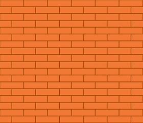 Abstract seamless orange flat brick wall