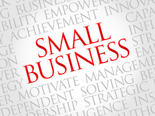 Small Business word cloud, business concept