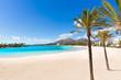Leinwanddruck Bild - Platja de Alcudia beach in Mallorca Majorca