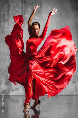 Fotobehang Dans flamenco dancer