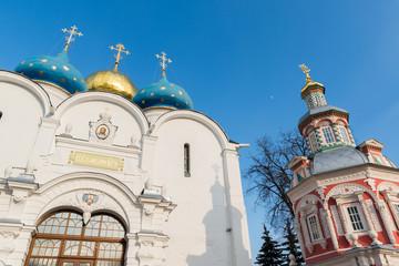 The great Trinity monastery in Sergiyev Posad near Moscow.Golden