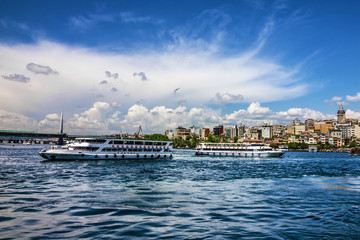 Panoramic view on Istanbul, Turkey.
