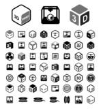 3D print icon set - 80866315
