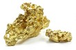 Goldnuggets aus Queensland/ Australien isoliert auf weißem Hintergrund - 80866558