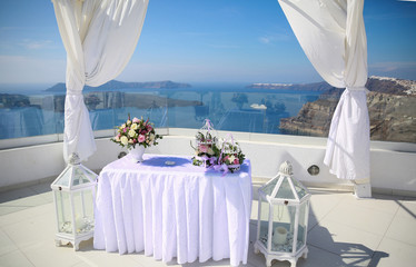Wedding decoration on Santorini