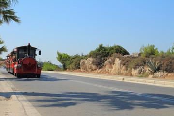 Excursion road train. Rhodes, Greece