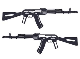 assault rifle grunge vector illustration, eps10, easy to edit