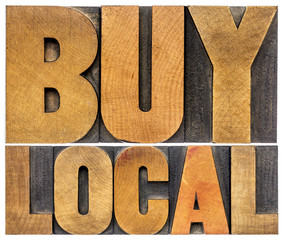 buy local words in wood type