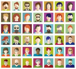 Set of People Flat icons.
