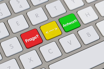 Frage und Antwort auf Tastatur