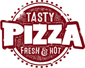 Vintage Pizzeria Pizza Stamp