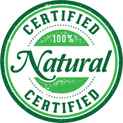 Certified Natural Product Stamp