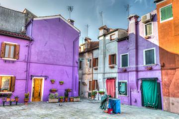small square in Burano