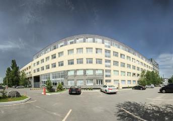 office building fisheye