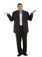 Businessman:  Man Shrugging in Uncertainty