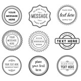 Vector Set of Retro Stamps and Badges poster