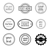 Vector Set of Retro Stamps and Badges - 80871398
