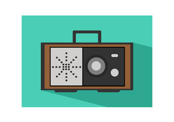 Retro radio flat icon