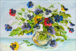 flowers, picture oil paints on a canvas