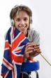 Prêt pour l'anglais 04 - Enfant drapeau Union Jack