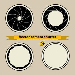 Black Camera shutter. Vector illustration