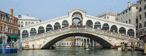 Foto Spatwand Venice bridge Rialto in Venice in Italy