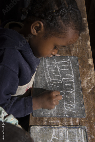 Fotobehang Overige ENFANT ECOLE MADAGASCAR