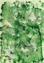 Watercolor groene achtergrond met rode spray.
