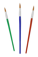 Multicolored paintbrushes
