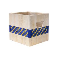 Box made from banana bark isolated on white background